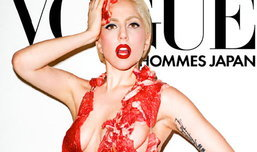 เลดี้ กาก้า แร๊ง นุ่งบิกินี่เนื้อสด ขึ้นปก Vogue Hommes
