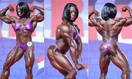 """หุ่นแบบนี้เอาไหม? """"Iris Floyd Kyle"""" นักเพาะกายหญิงกล้ามใหญ่ แข็งแรงที่สุดในโลก"""
