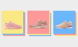 10 รองเท้าผ้าใบสีแซลมอน สำหรับสาวหวานพร้อมลุย