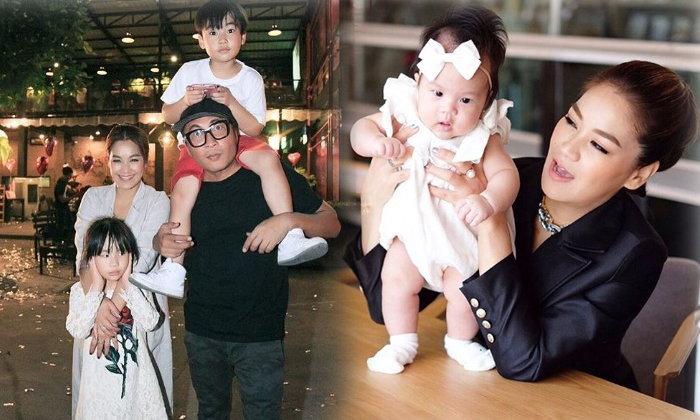 ชีวิตสุดแฮปปี้! ครอบครัวตัว อ. 4 แสบสุดน่ารัก ลูกพ่อเปิ้ล-แม่จูน