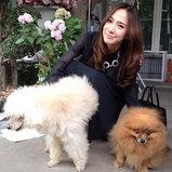 อั้ม พัชราภา กับสุนัข