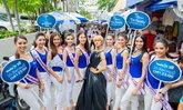 """""""ม๊าเดี่ยว"""" ปะทะสาวงาม Miss International Thailand 2016 บุกถนนสีลม"""