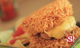 สูตรเบอร์เกอร์มาม่า ไอเดียง่ายๆ ที่ชวนหิว