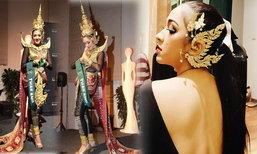 """สวยสง่างาม ชุดประจำชาติไทย """"ยิ้ม ชาวิกา"""" มิสเอิร์ธ 2015"""