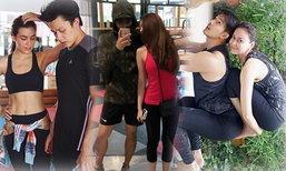 ทำร้ายคนโสด! 5 คู่รักดาราออกกำลังกาย จูงมือกันฟิตเฟิร์ม
