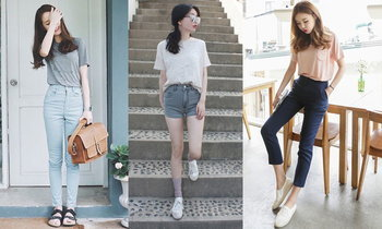 เปลี่ยนลุคให้ดูเรียบร้อย มีเอว กับ 20 ไอเดียแฟชั่น ใส่เสื้อไว้ในกางเกง สไตล์ สาวเอเชีย