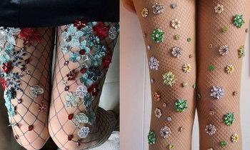 High Fashion  Fishnet Tights เซ็กซี่สไตล์วินเทจ