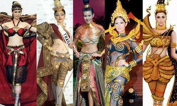Miss Universe และ พัฒนาการ ชุดประจำชาติไทย สวย โดดเด่น บนเวทีมิสยูนิเวิร์ส