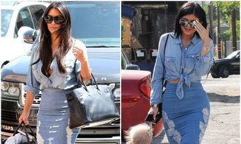 แฝดคนละฝา! Kim Kardashian & Kylie Jenner กับลุคที่เหมือนกันอย่างกับแกะ