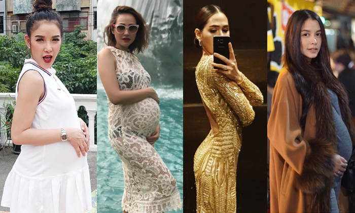 รวมว่าที่คุณแม่สุดแซ่บ ท้องโตแต่สวยใสไม่มีโทรม
