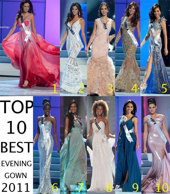 miss universe 2011 กับ 10 อันดับชุดราตรียอดเยี่ยม
