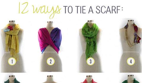 วิธีจัดแต่งผ้าพันคอให้ไม่ธรรมดา
