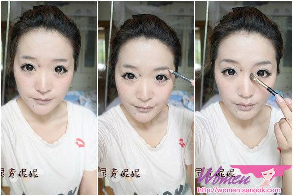เทคนิคการแต่งหน้า Ling Luan NiNi