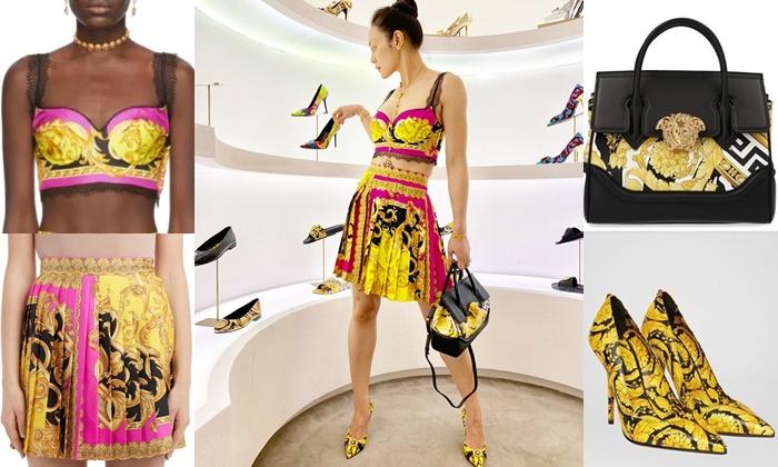 ตั๊ก บงกช กับแฟชั่น Versace รวมแล้วทั้งชุด ฟาดไปหลักแสน