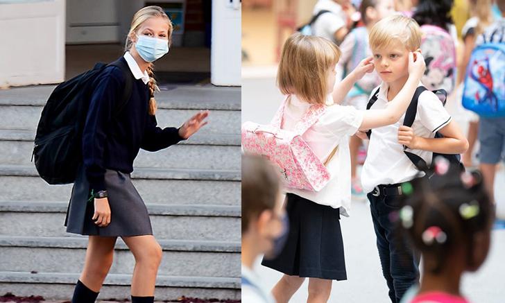 ราชนิกุลรุ่นเยาว์ เสด็จไปโรงเรียนวันแรก หลังหยุดยาวจากโควิด-19
