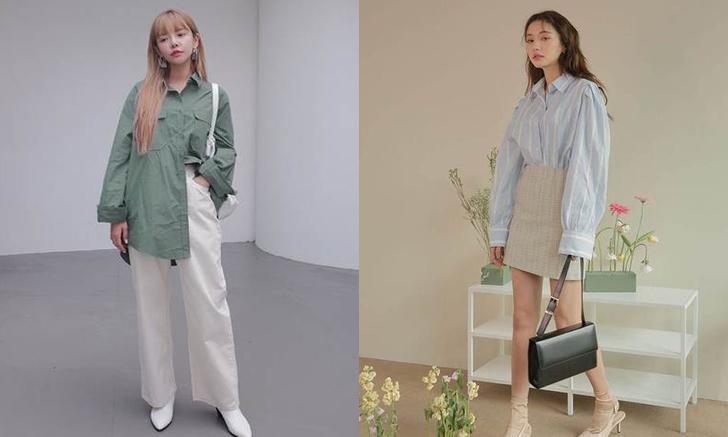 20 ลุคแมทช์เสื้อเชิ้ตโอเวอร์ไซส์ แบบชิลๆ สไตล์เกาหลี