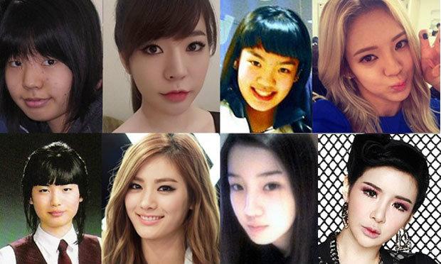 รวมดาวสาวเกาหลี ยิ่งโตหน้ายิ่งเปลี่ยน