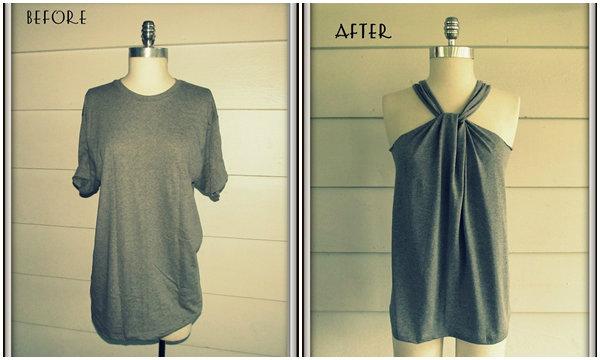 เปลี่ยนเสื้อยืดยาวธรรมดาให้กลายเป็นชุดเดรสสวยเริ่ด