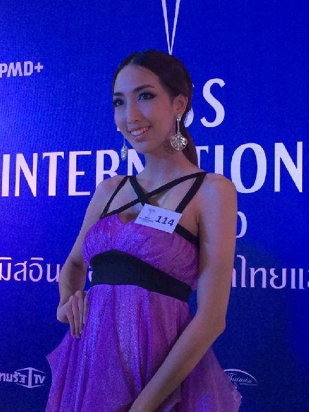 น้ำเพชร ลูกสายัณห์ ร่วมชิง มิสอินเตอร์เนชั่นแนลไทยแลนด์ 2015